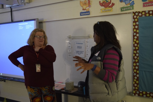 Joining ESL educator in her classroom.