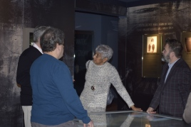 Members of TMG during a short tour of the exhibitions at the Civil Rights Memorial Center.